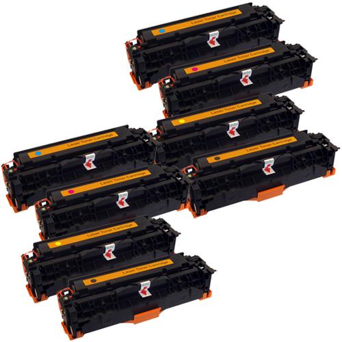 Set 8 Toner XXL ProSerie kompatibel zu HP CC530A, CC531A, CC532A, CC533A, 304A