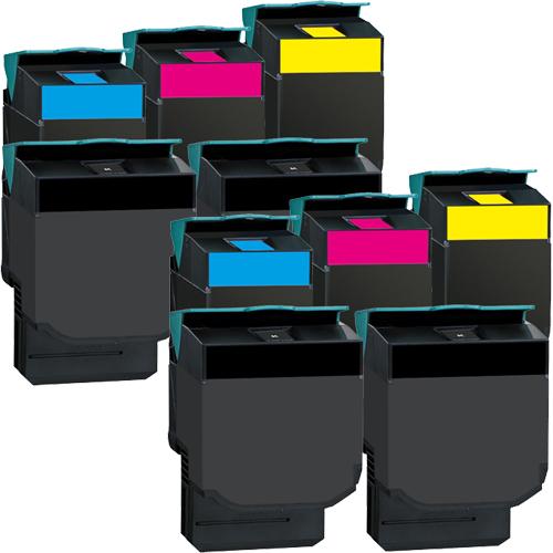 Set 10 Toner XXL ProSerie kompatibel zu Lexmark C540K, C540C, C540M, C540Y