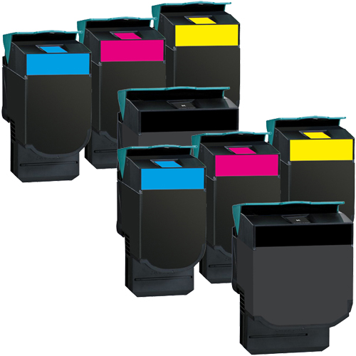 Set 8 Toner XXL ProSerie kompatibel zu Lexmark C540K, C540C, C540M, C540Y