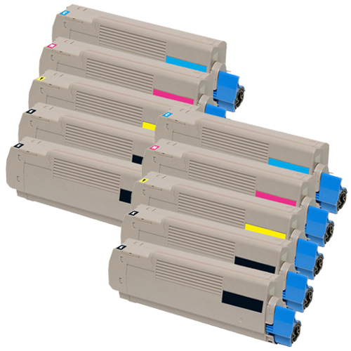 Set 10 Toner XXL ProSerie kompatibel zu OKI C5600/C5700K, C5600/C5700C, C5600/C5700M, C5600/C5700Y