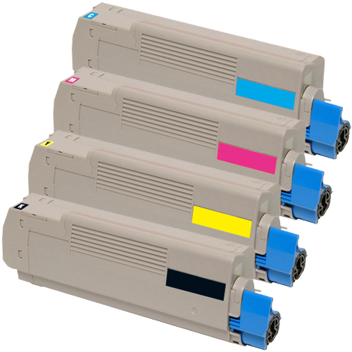 Set 4 Toner XXL ProSerie kompatibel zu OKI C5600/C5700K, C5600/C5700C, C5600/C5700M, C5600/C5700Y
