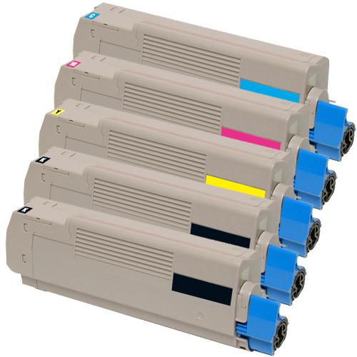 Set 5 Toner XXL ProSerie kompatibel zu OKI C5600/C5700K, C5600/C5700C, C5600/C5700M, C5600/C5700Y