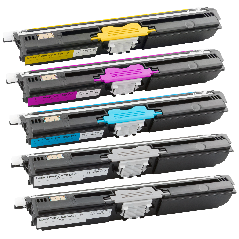 Set 5 Toner XXL ProSerie kompatibel zu Epson C1600K, C1600C, C1600M, C1600Y