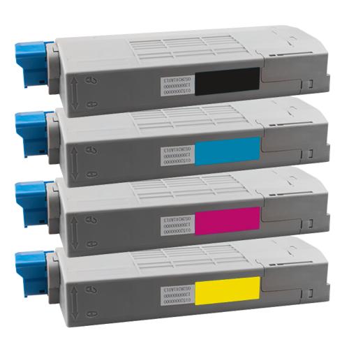 Set 4 Toner XXL ProSerie kompatibel zu OKI C710K, C710C, C710M, C710Y