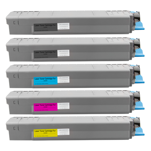 Set 5 Toner XXL ProSerie kompatibel zu OKI C830K, C830C, C830M, C830Y