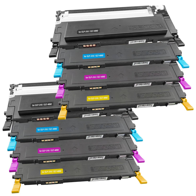 Set 8 Toner XXL ProSerie kompatibel zu Samsung CLT-K4092S, CLT-C4092S, CLT-M4092S, CLT-Y4092S CLP-310