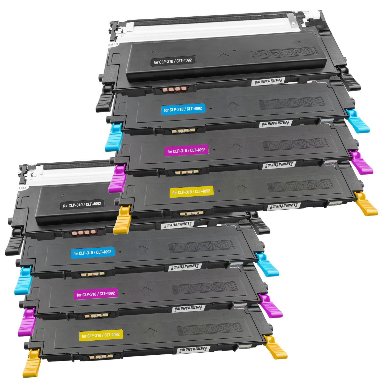 Set 8 Toner XXL ProSerie kompatibel zu Dell 1230K, 1230C, 1230M, 1230Y