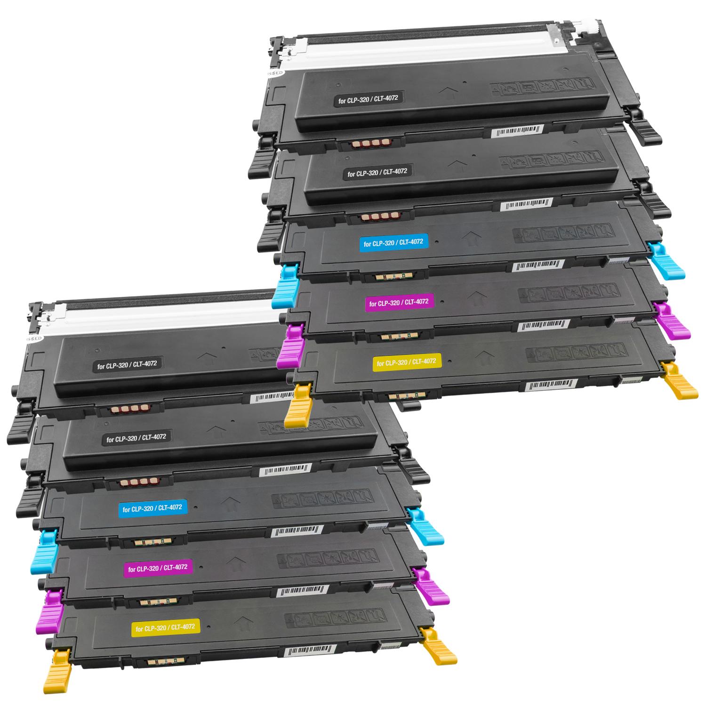 Set 10 Toner XXL ProSerie kompatibel zu Samsung CLT-K4072S, CLT-C4072S, CLT-M4072S, CLT-Y4072S CLP-320