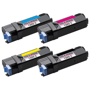 Set 4 Toner XXL ProSerie kompatibel zu Dell 1320K, 1320C, 1320M, 1320Y
