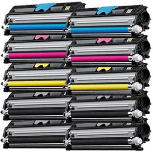Set 10 Toner XXL ProSerie kompatibel zu Xerox 6121K, 6121C, 6121M, 6121Y