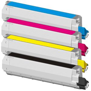Set 4 Toner XXL ProSerie kompatibel zu OKI C9600/C9800K, C9600/C9800C, C9600/C9800M, C9600/C9800Y