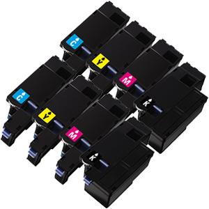 Set 8 Toner XXL ProSerie kompatibel zu Dell 1250K, 1250C, 1250M, 1250Y