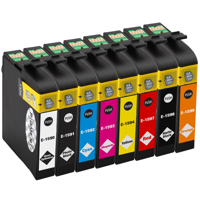 Sparset 8 Patronen XXL ProSerie kompatibel zu Epson T1590-T1599