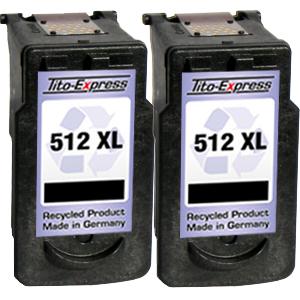 2x Druckerpatrone XXL recycled ProSerie. Ersetzt Canon PG-512