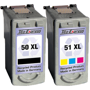Sparset 2 Patronen XXL recycled ProSerie. Ersetzt Canon PG-50 & CL-51