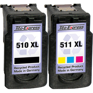 Sparset 2 Patronen XXL recycled ProSerie. Ersetzt Canon PG-510 & CL-511