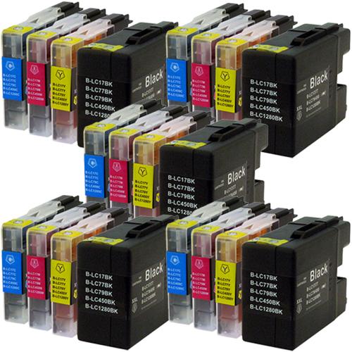 Sparset 20 Patronen XXL ProSerie kompatibel zu Brother LC-1280 BK, C, M, Y