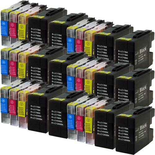 Sparset 30 Patronen XXL ProSerie kompatibel zu Brother LC-1280 BK, C, M, Y