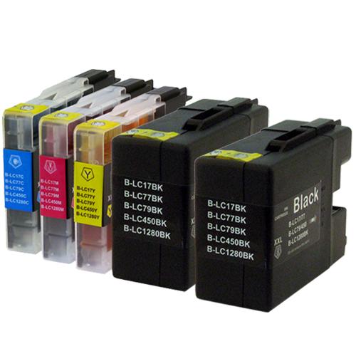 Sparset 5 Patronen XXL ProSerie kompatibel zu Brother LC-1280 BK, C, M, Y