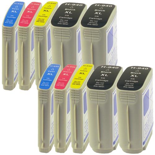Sparset 10 Patronen XXL ProSerie kompatibel zu HP 940XL BK, C, M, Y