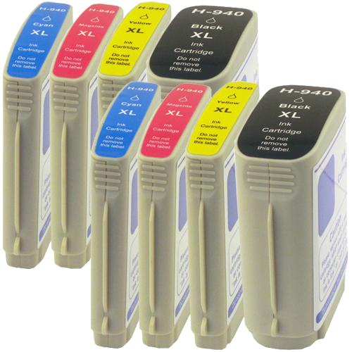 Sparset 8 Patronen XXL ProSerie kompatibel zu HP 940XL BK, C, M, Y