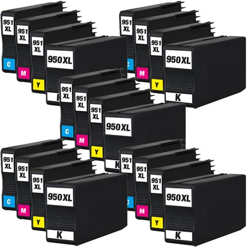 Sparset 20 Patronen XXL ProSerie kompatibel zu HP 950XL & 951XL BK, C, M, Y