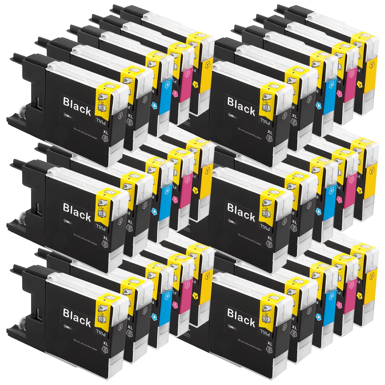 Sparset 30 Patronen XXL ProSerie kompatibel zu Brother LC-1240 BK, C, M, Y