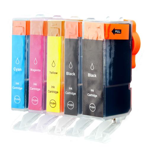 Sparset 5 Patronen XL ProSerie kompatibel zu Canon PGI-525 CLI-526