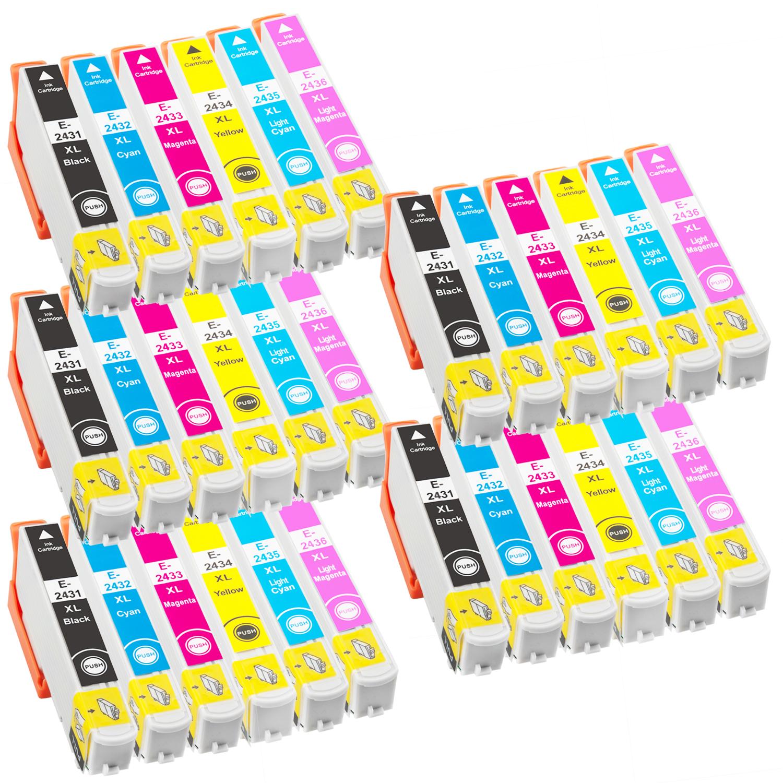 Sparset 30 Patronen XXL ProSerie kompatibel zu Epson T2431-T2436 24XL