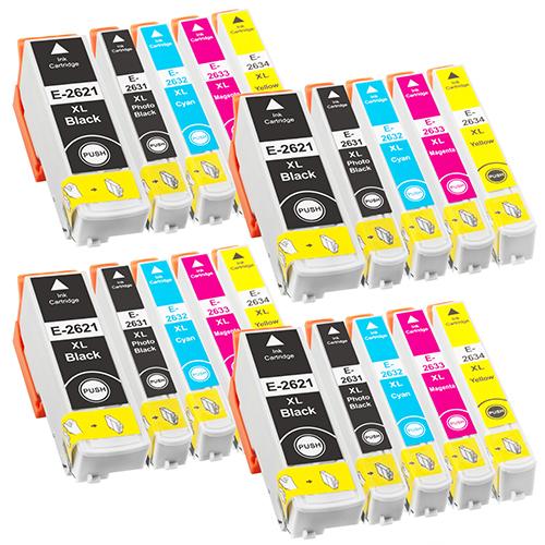 Sparset 20 Patronen XXL ProSerie kompatibel zu Epson T2621-T2634 26XL