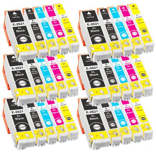 Sparset 30 Patronen XXL ProSerie kompatibel zu Epson T2621-T2634 26XL