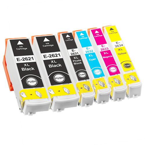 Sparset 6 Patronen XXL ProSerie kompatibel zu Epson T2621-T2634 26XL