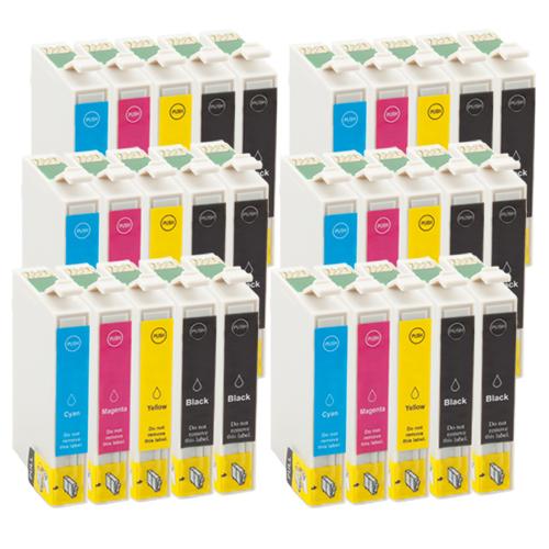 Sparset 30 Patronen XXL ProSerie kompatibel zu Epson T0611-T0614