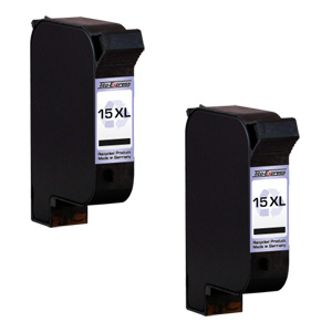 2x Druckerpatrone XXL recycled ProSerie. Ersetzt HP 15
