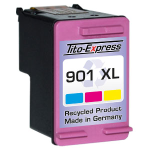 Druckerpatrone XXL recycled ProSerie. Ersetzt HP 901XL Color