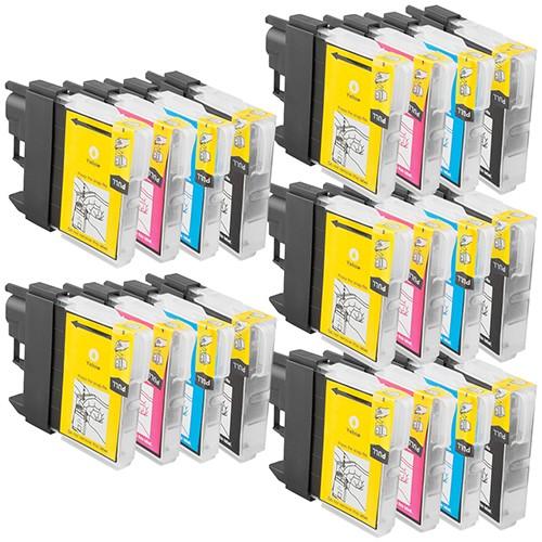 Sparset 20 Patronen XL ProSerie kompatibel zu Brother LC-980 BK, C, M, Y
