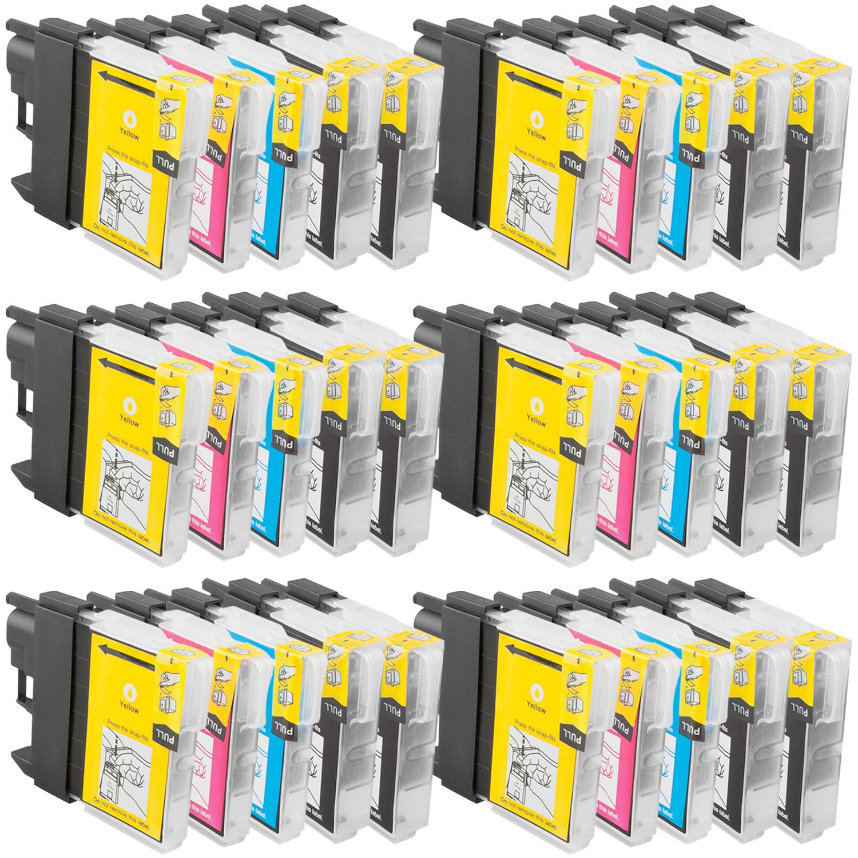 Sparset 30 Patronen XL ProSerie kompatibel zu Brother LC-1100 BK, C, M, Y