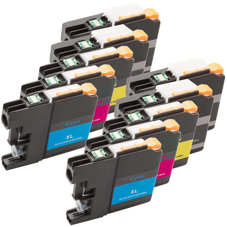 Sparset 10 Patronen XXL ProSerie kompatibel zu Brother LC-125 LC-127 BK, C, M, Y