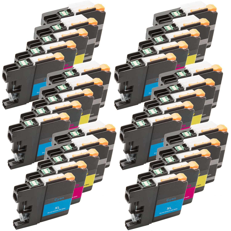 Sparset 30 Patronen XXL ProSerie kompatibel zu Brother LC-125 LC-127 BK, C, M, Y