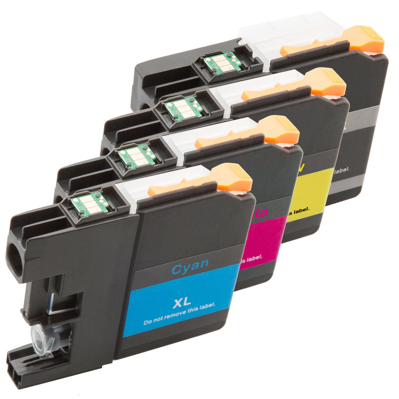Sparset 4 Patronen XXL ProSerie kompatibel zu Brother LC-125 LC-127 BK, C, M, Y