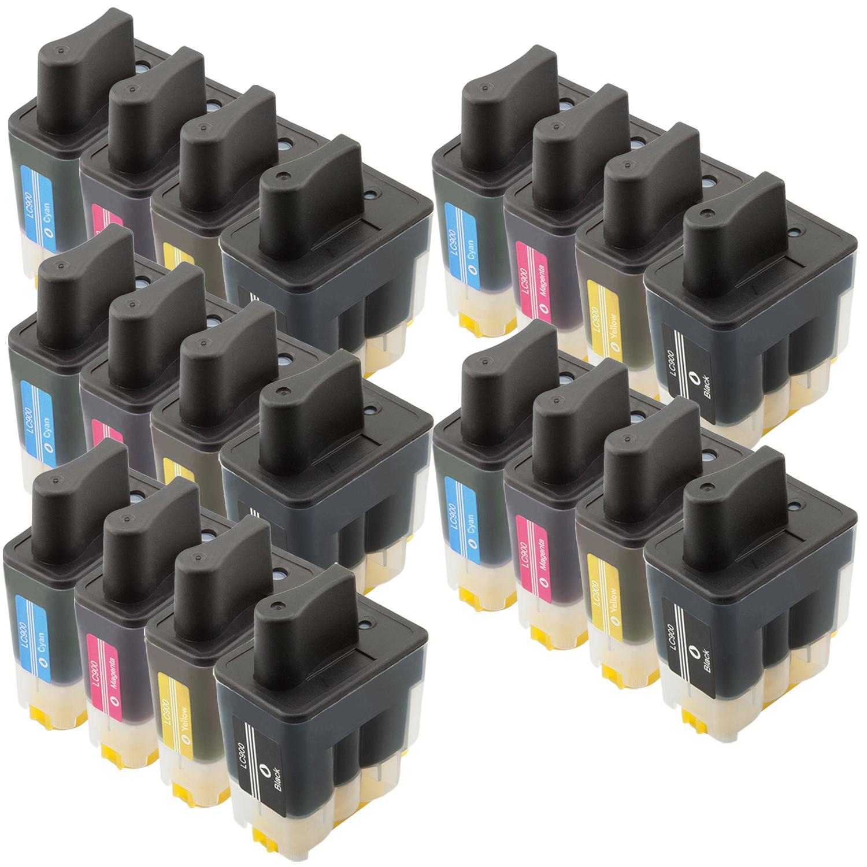 Sparset 20 Patronen XL ProSerie kompatibel zu Brother LC-900 BK, C, M, Y