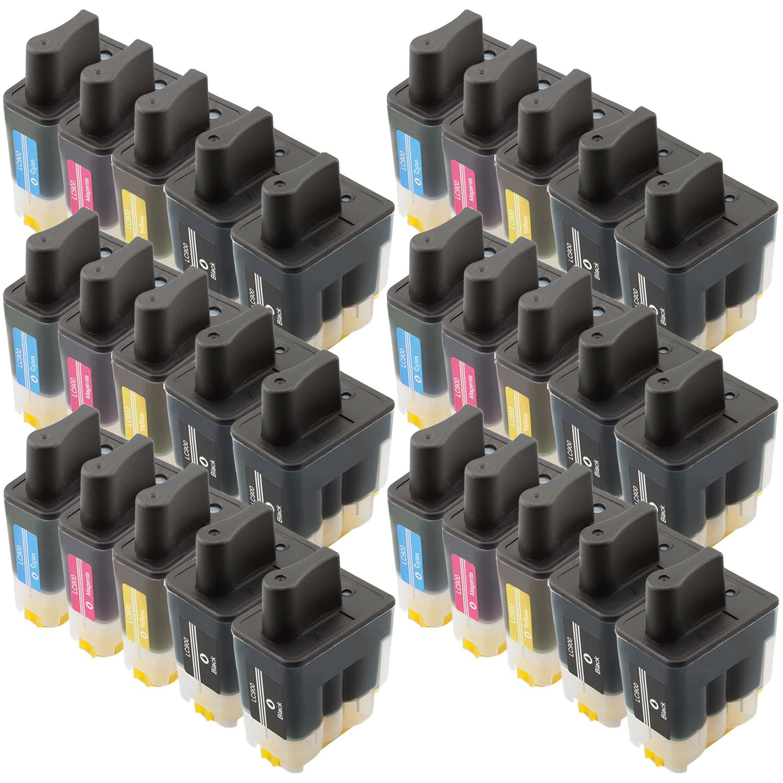 Sparset 30 Patronen XL ProSerie kompatibel zu Brother LC-900 BK, C, M, Y