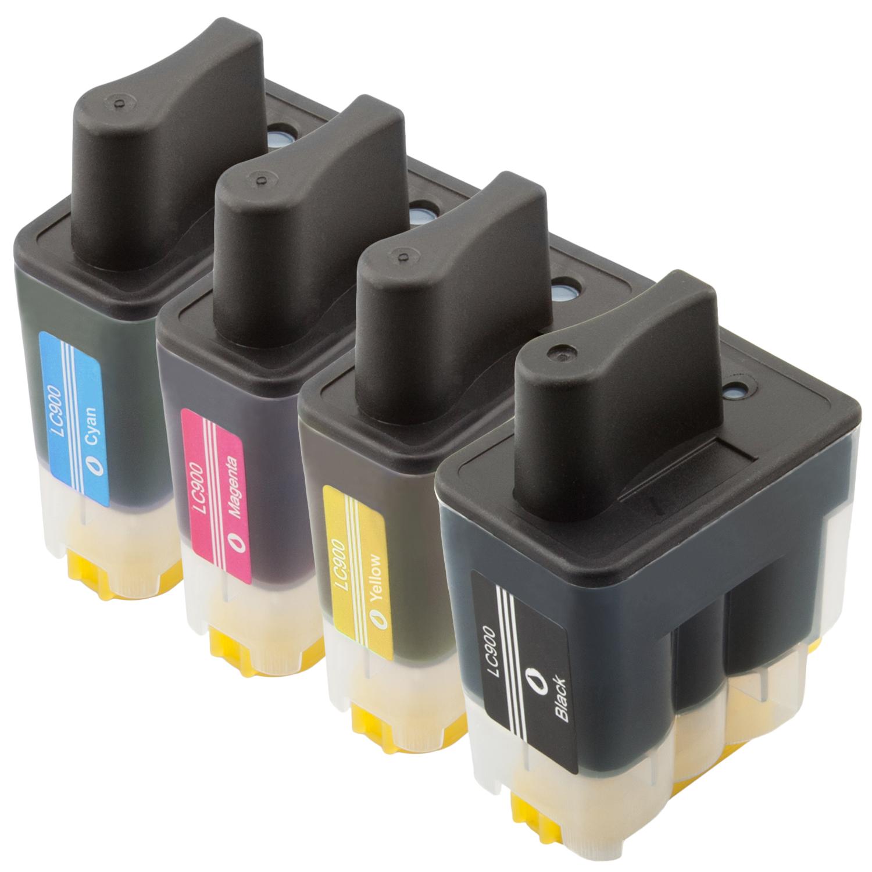 Sparset 4 Patronen XL ProSerie kompatibel zu Brother LC-900 BK, C, M, Y