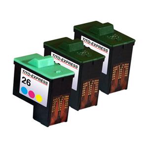 Megaset 3 Patronen XXL recycled ProSerie. Ersetzt Lexmark 16 & 26