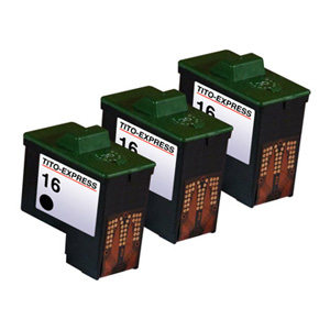 3x Druckerpatrone XXL recycled ProSerie. Ersetzt Lexmark 16