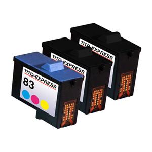 Megaset 3 Patronen XXL recycled ProSerie. Ersetzt Lexmark 82 & 83