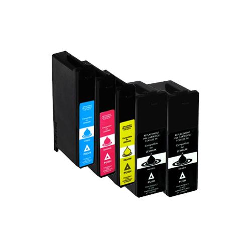 Sparset 5 Patronen XXL ProSerie kompatibel zu Lexmark 100 XL