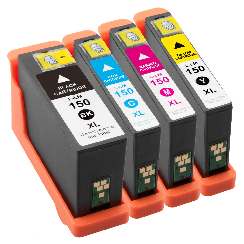 Sparset 4 Patronen XXL ProSerie kompatibel zu Lexmark 150 XL