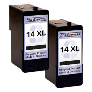 2x Druckerpatrone XXL recycled ProSerie. Ersetzt Lexmark 14