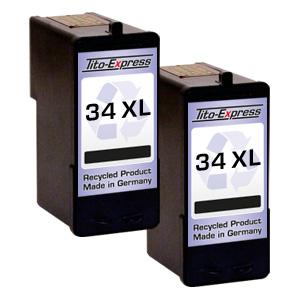 2x Druckerpatrone XXL recycled ProSerie. Ersetzt Lexmark 34